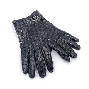 Accessories - Ladies Black Leather Gloves